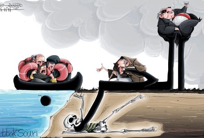 كاريكاتير: الحرب