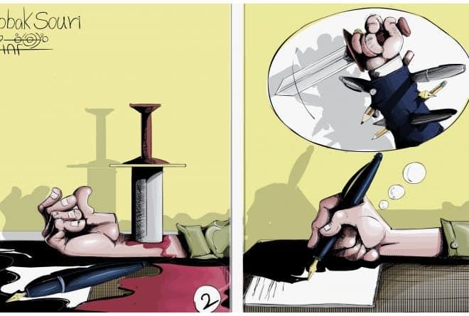 كاريكاتير: في يوم الصحافة العالمي